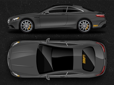 Mercedes Benz S63 AMG illustration vinyl wrap vehicle motorcycle vector car mercedes-benz mercedes
