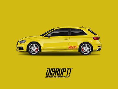 Audi S3 vector automotive motorsport drift motorcycle race car audi vinyl wrap vehicle