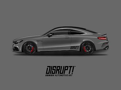 Mercedes Benz C63 Amg Coupe illustration vector art automotive motorcycle race benz mercedes car wrap vehicle