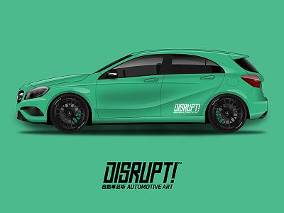 Mercedes-Benz A Class A45 illustration vector art automotive motorcycle race benz mercedes car wrap vehicle
