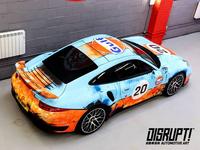 Gulf Porsche 911 Vehicle Wrap illustration vector art automotive motorcycle 911 porsche tokyo japan car wrap vehicle