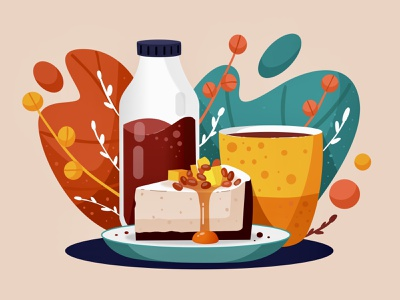 Dessert illustration dessert food cake ipadpro vector illustration vector illustration