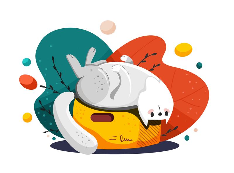 Bored Cat animal kitty cat vector vectornator illustration