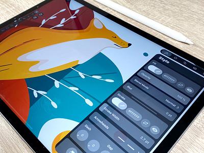 Fox Illustration vectorillustration vetornator vector animals animal fox plant illustration