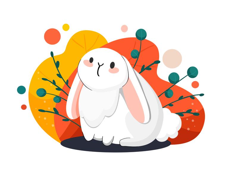 Happy Easter easter cute vector illustration rabbit bunny vector illustration