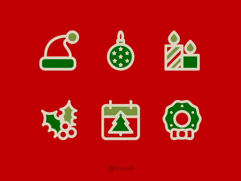Freebie Holidays icons  free freebies icon calendar candle winter hat christmas holidays