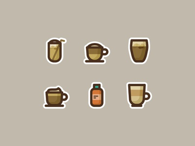 Dripapp's Coffee Icons drink icon macchiato iced coffee juice cold-pressed latte brew capuccino coffee