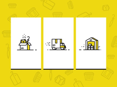 Boxbee Icons box package truck illustration pickup pack storage icondesign icon icons