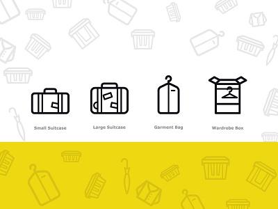 Boxbee icons illustration icon lugage dress garment suitcase wardrobe box