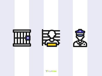 Police free prison jail icons illustration icon police
