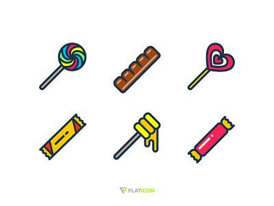 Sweet Icons honey illustration icon candy chocolate lolipop sweet