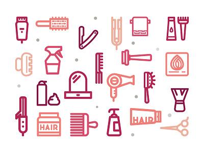 Hair Salon Free Icons icon comb pattern illustration scissor iron hairdressing salon hair freebie icons free