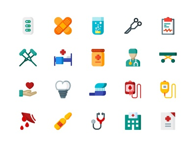 Medical Icons doctor dental dentist clinic health hospital icons icon flat medical