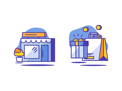 Shop & Shopping icons present gift bag illustration icondesign icon store shopping shop