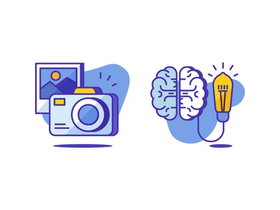 Photography & Idea Icons lamp brainstorm photography gallery photo illustration icondesign icon creative