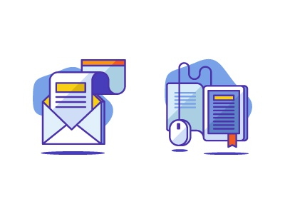 Newsletter & Elearning icons icons icondesign education book mouse letter ebook icon elearning newsletter