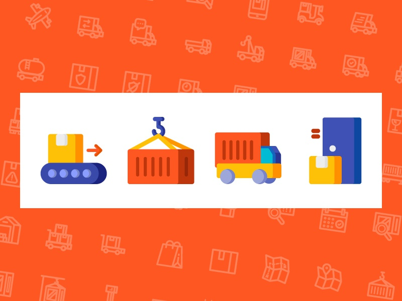 Shipping Icons package truck illustration icons icon delivery transport shipping