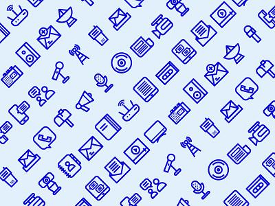 Communication Icons icon design connect antenna pattern icon communication