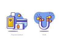 Payment Method & Profit Icons