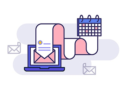 Automatic from email mail calendar illustration email