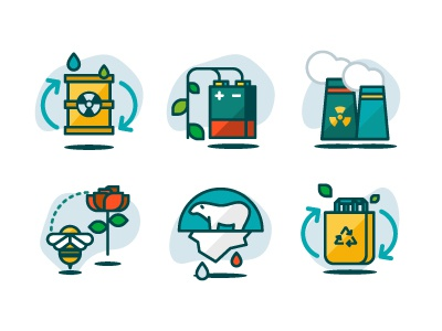 Ecology Icons 01 illustration icons recycle nature ecology eco