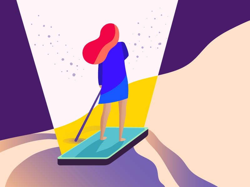 Surfing Girl girl illustration mobile surfing