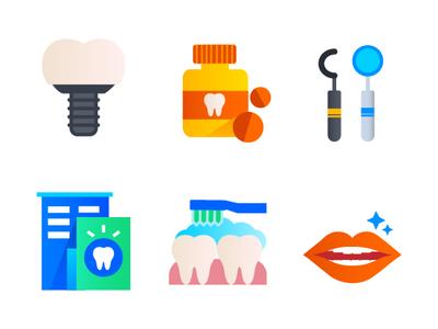 Dentist Icons medical teeth dentist dental dental care icon design icons illustration icon