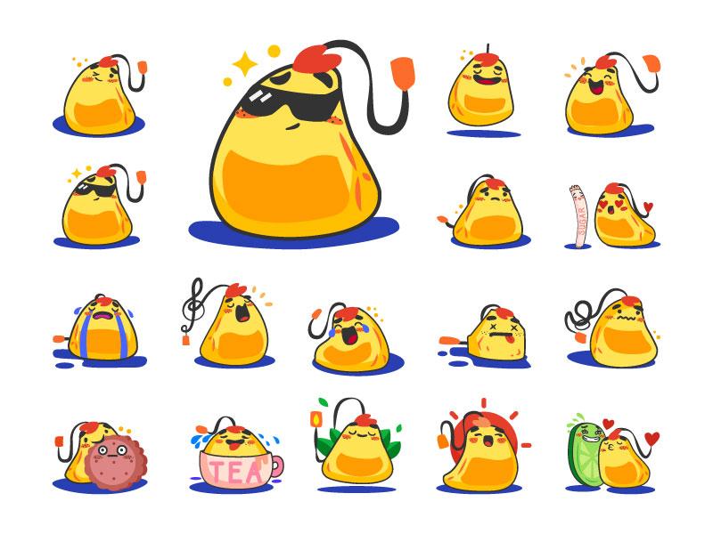 Free Teabag Sticker! messenger stickers sticker teabag tea freebie free illustration