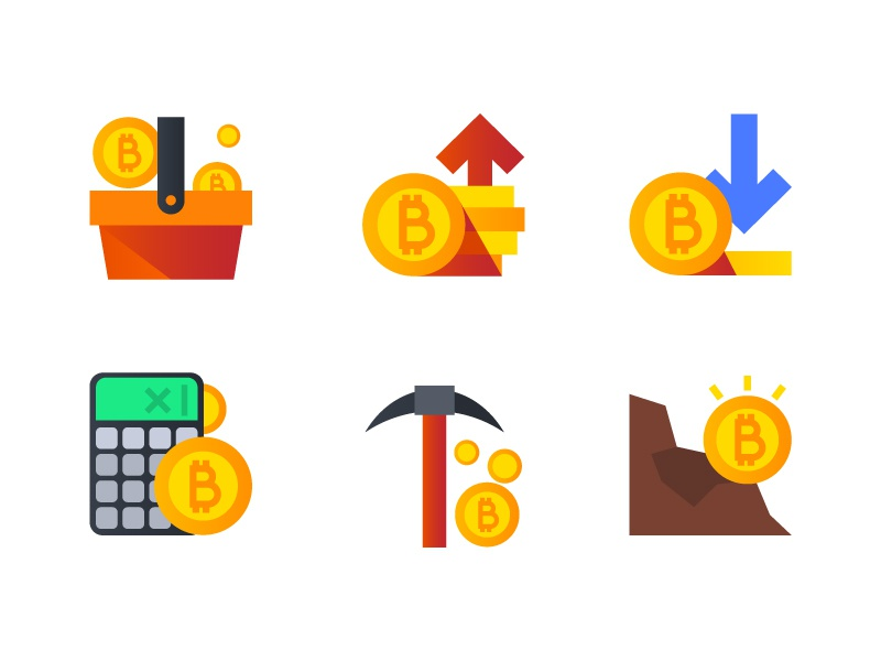 Bitcoin Icons icondesign illustration icon cryptocurrency crypto bitcoin icon design icons