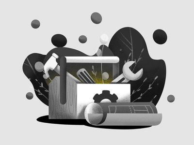 Inktober Day 5: Build building toolbox construction build procreate illustration