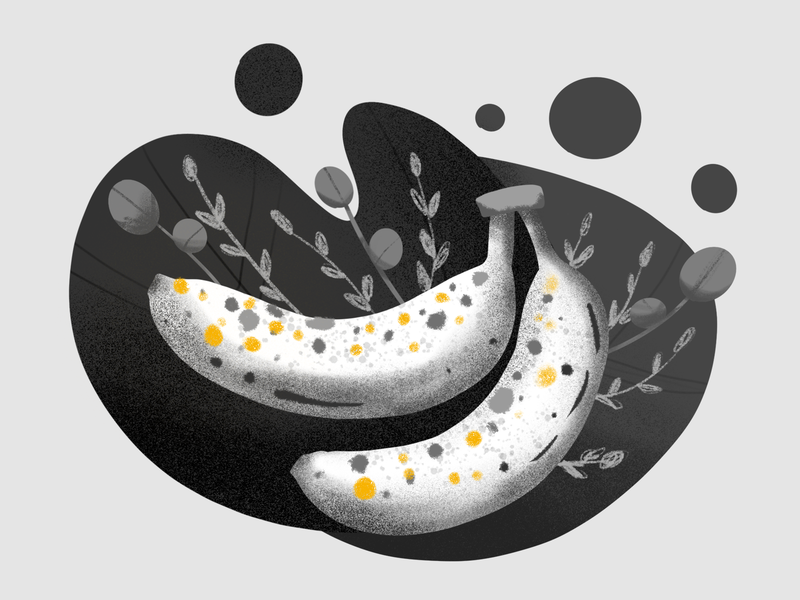 Inktober Day 31: Ripe fruit banana inktober2019 procreate illustration