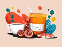 Jam & Cookies illustration