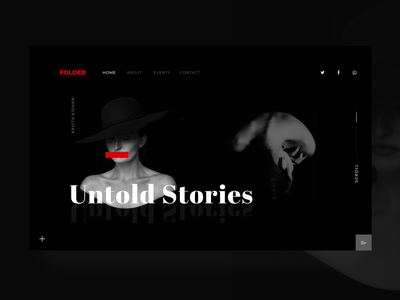 Folded website flat ui ux web design
