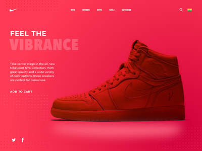 Feel the vibrance ui website web ux design