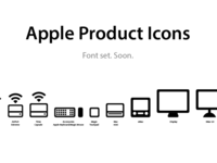 Apple Product Icons font set