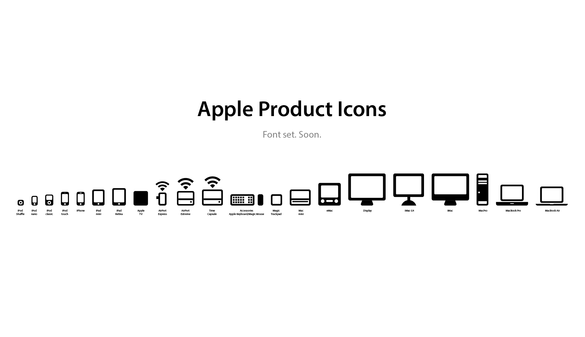 Apple products apple products png - Apple Product Icons Font Set