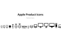 Apple product icons font set