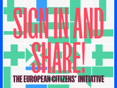The European Citizens' Initiative – Equal Opportunity petition initiative citizen european illustration goeast! design