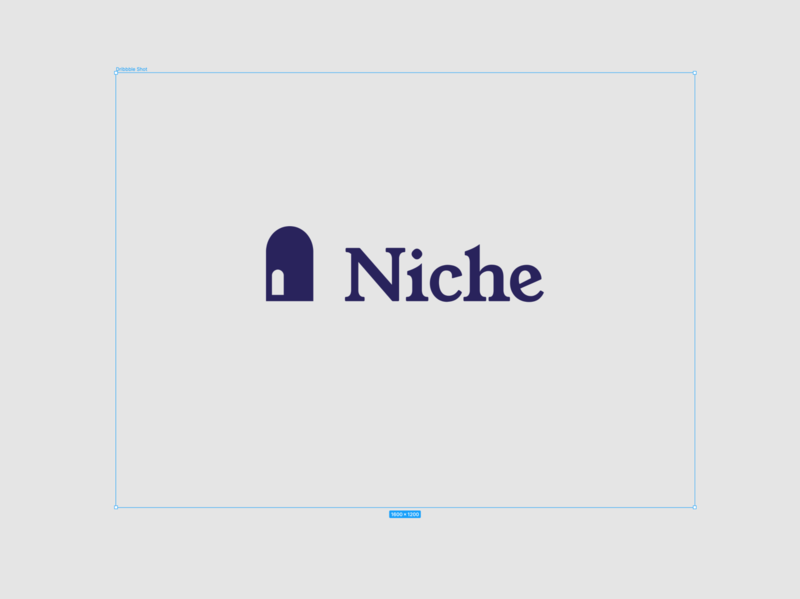 Niche – share your stories privately share private digital brand logo design niche