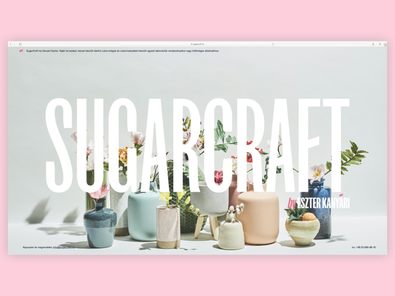 Sugarcraft splash screen – actual website space grotesk flower sugar craft art sugarart branding webflow web budapest goeast! logo typography karsten fk screm brand design sugarcraft design