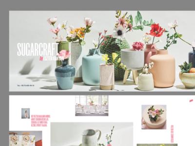 Sugarcraft A5 Leporello – grey background visual identity brand identity sugarcraft editorial design brand design design