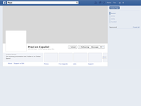Facebook Cover Page Template in Sketch