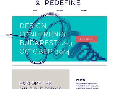 Redefine Conference Homepage redefine design conference homepage website