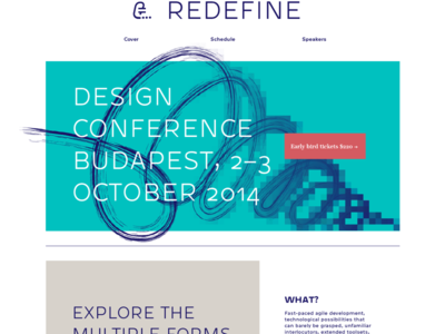 Redefine Conference Homepage redefine design conference homepage website