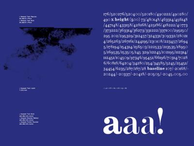 Gewaard type specimen spread aaa! type specimen spread mc lead82 hungarumlaut gewaard font book