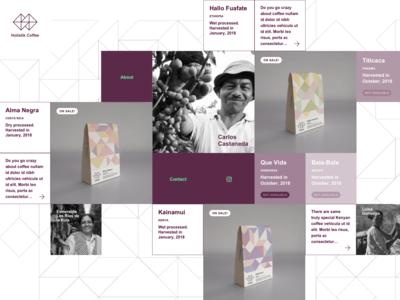 Holistik Coffee website – Home page – UX/UI