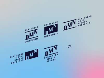 DMN Designers Movie Nights logo variations