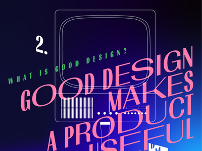 Good design makes a product useful – illustration for DMN event