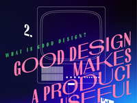 Good design makes a product useful – illustration for DMN event