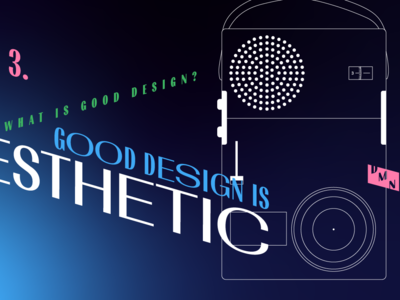 3. Good design is aesthetic – illustration for DMN